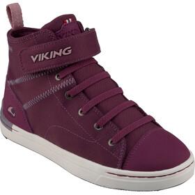Viking Footwear Skien Mid GTX Buty Dzieci, plum/old rose